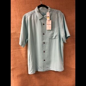 Men's Tommy Bahama Camp Shirt Royal Bermuda